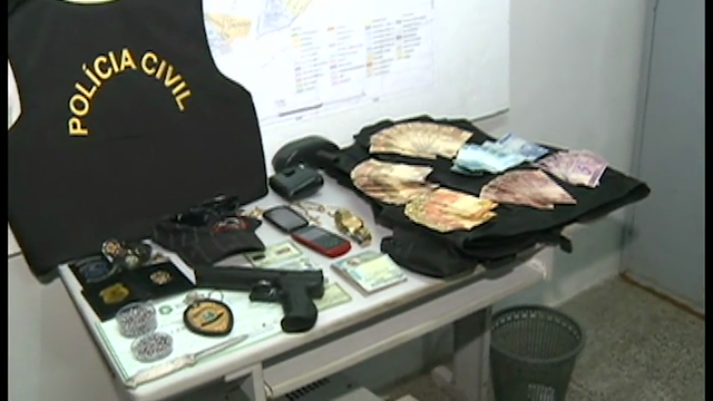 O criminoso extorquia comerciantes do centro da cidade e foi capturado após denúncia anônima