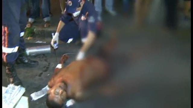 Foram necessárias três ambulâncias do SAMU para realizar o atendimento