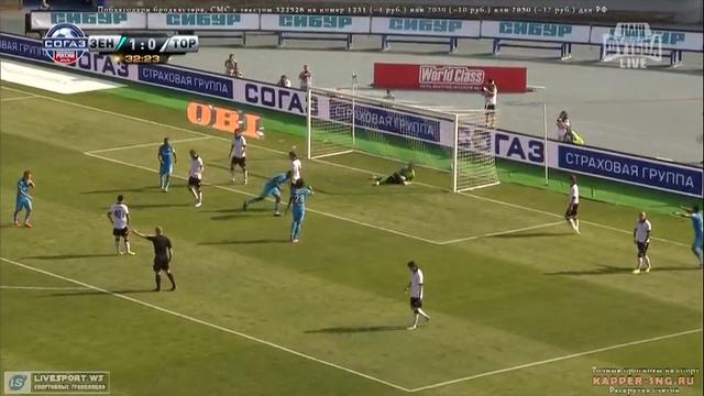 Zenit 8-1 Torpedo Moskva - Golo de S. Rondón (33min)