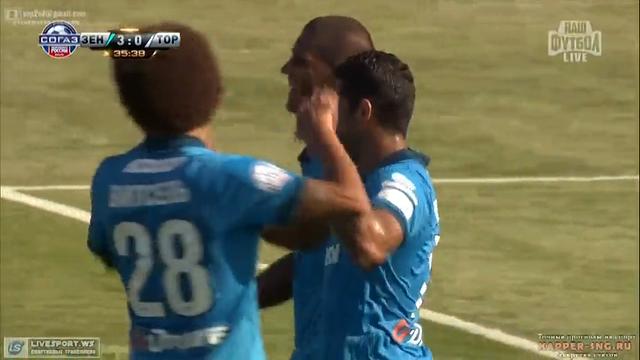 Zenit 8-1 Torpedo Moskva - Golo de Hulk (36min)