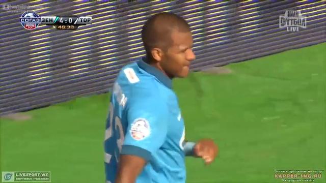 Zenit 8-1 Torpedo Moskva - Golo de S. Rondón (47min)