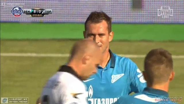 Zenit 8-1 Torpedo Moskva - Golo de A. Kerzhakov (78min)