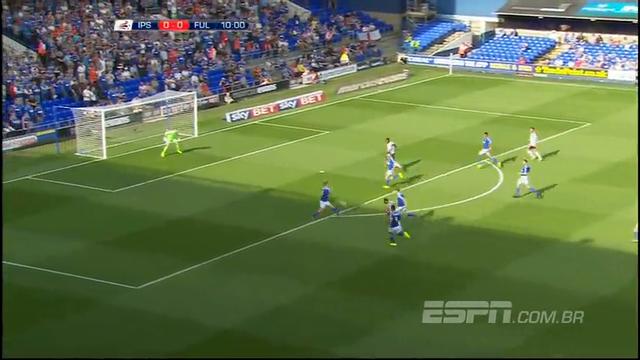 Resumo: Ipswich Town 2-1 Fulham (9 Agosto 2014)