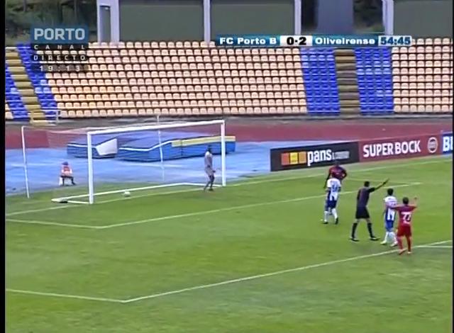 Porto II vs UD Oliveirense - Golo de K. Yero (55min)