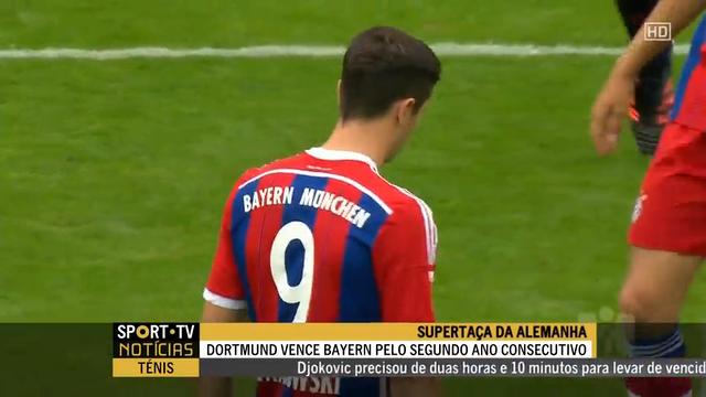 Resumo: Borussia Dortmund 2-0 Bayern München (13 Agosto 2014)