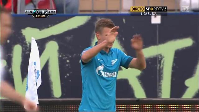 Zenit 2-0 Amkar Perm' - Golo de O. Shatov (13min)