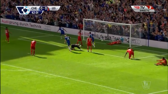 Chelsea 2-0 Leicester - Goal by Diego Costa (63')
