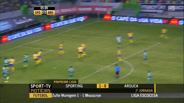 Summary: Sporting CP 1-0 Arouca (23 August 2014)