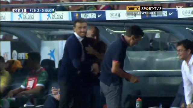 Barcelona 3-0 Elche - Golo de Munir El Haddadi (46min)
