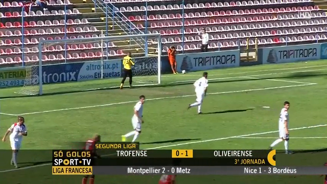 Resumo: Trofense 0-1 UD Oliveirense (24 Agosto 2014)