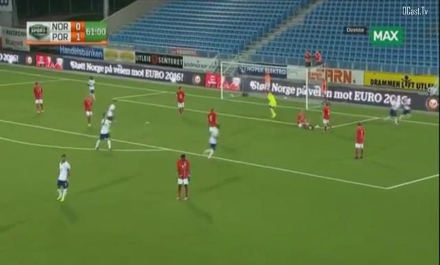 Norway U21 1-2 Portugal U21 - Golo de Ricardo Esgaio (62min)