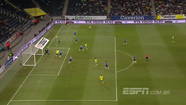 Sweden 2-0 Estonia - Golo de Z. Ibrahimovic (24min)