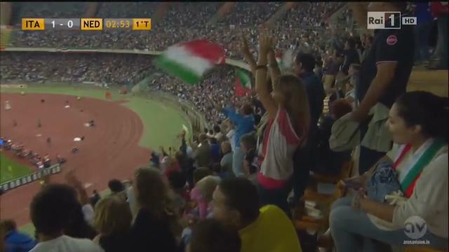Italia 2-0 Holanda - Gól de C. Immobile (3min)