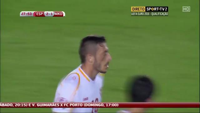 España 5-1 Macedonia - Gól de A. Ibraimi (28min)