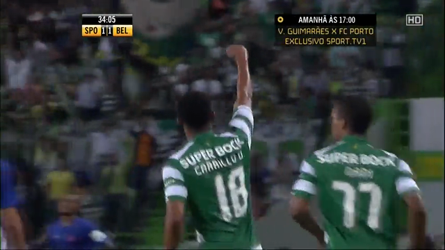 Sporting CP 1-1 Belenenses - Golo de A. Carrillo (34min)