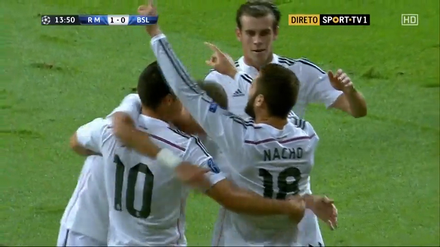 Real Madrid 5-1 Basel - Goal by M. Suchý (14')