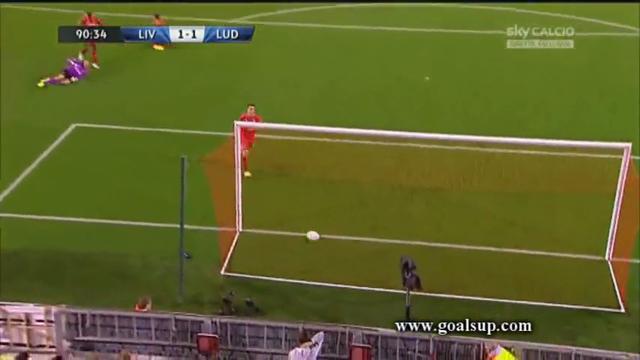 Liverpool 2-1 Ludogorets - Golo de Dani Abalo (90+1min)