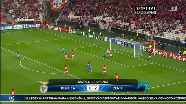 Benfica Zenit Petersburg goals and highlights