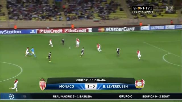 Monaco Bayer Leverkusen goals and highlights