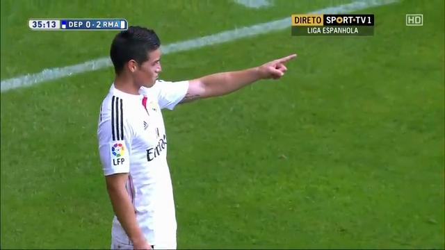 Deportivo La Coruña 2-8 Real Madrid - Golo de J. Rodríguez (36min)