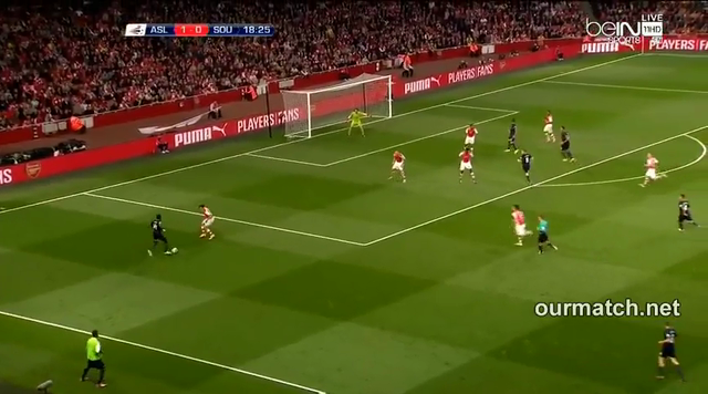 Resumo: Arsenal 1-2 Southampton (23 September 2014)
