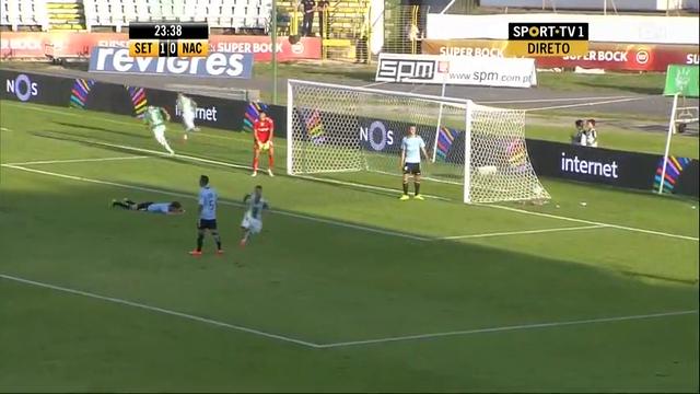Vitória Setúbal 2-0 Nacional - Golo de Miguel Pedro (24min)