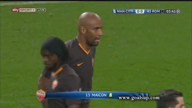 Manchester City 1-1 Roma - Golo de S. Agüero (4min)