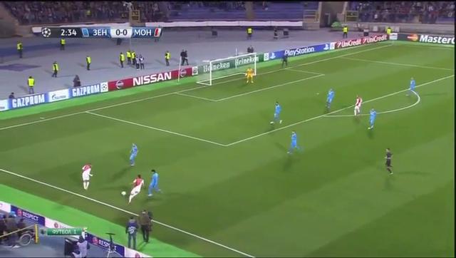 Zenit Petersburg Monaco goals and highlights