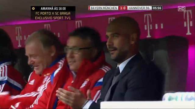 Bayern München 4-0 Hannover 96 - Golo de R. Lewandowski (6min)