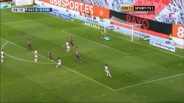 Resumo: Rayo Vallecano 0-2 Barcelona (4 October 2014)