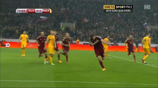 Russia 1-1 Moldova - Golo de A. Dzyuba (73min)