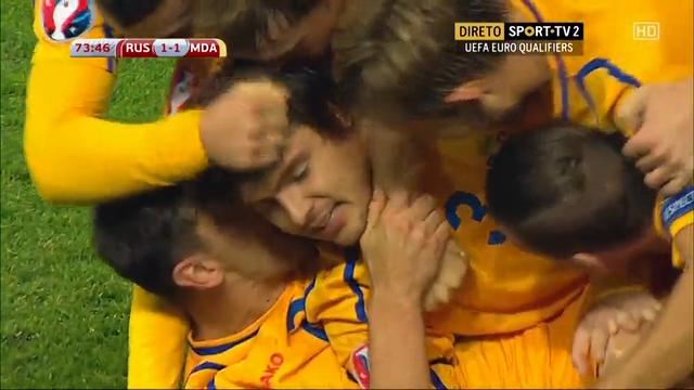 Russia 1-1 Moldova - Golo de A. Epureanu (74min)