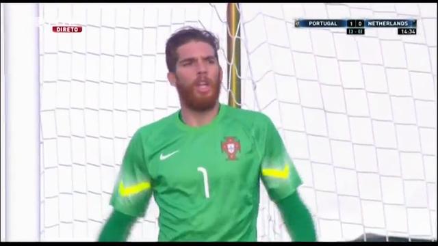Portugal U21 5-4 Netherlands U21 - Golo de W. Weghorst (15min)