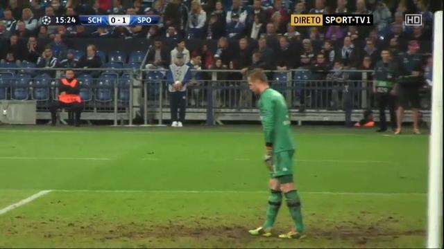 Schalke 04 4-3 Sporting CP - Golo de Nani (16min)