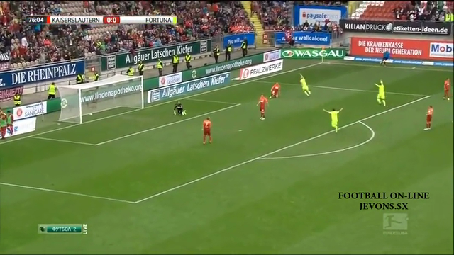 Resumo: Kaiserslautern 1-1 Fortuna Düsseldorf (25 October 2014)