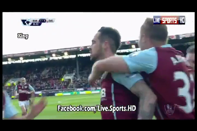 Burnley 1-3 Everton - Golo de D. Ings (20min)