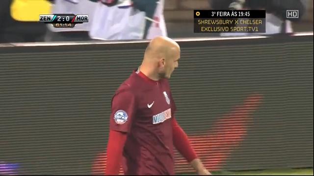 Zenit 5-0 Mordovia Saransk - Golo de R. Nakhushev (62min)