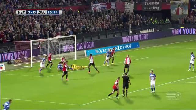 Resumo: Feyenoord 2-0 PEC Zwolle (1 Novembro 2014)