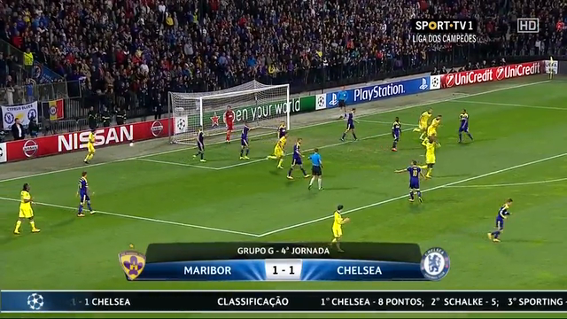 Resumo: Maribor 1-1 Chelsea (5 Novembro 2014)