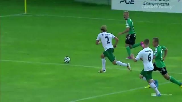 Resumo: Bełchatów 2-0 Śląsk Wrocław (9 Agosto 2014)
