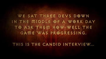 Diablo III First Video Developer Diary (HD)