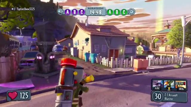 Plants vs. Zombies Garden Warfare Gnome Bomb mode gameplay