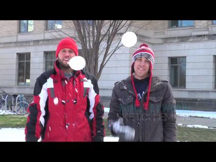 Flying Snowball Prank